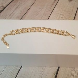 Anthropologie Baublebar 14k Gold Plated Bracelet